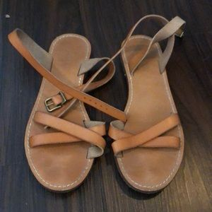 J Crew Tan Sandals